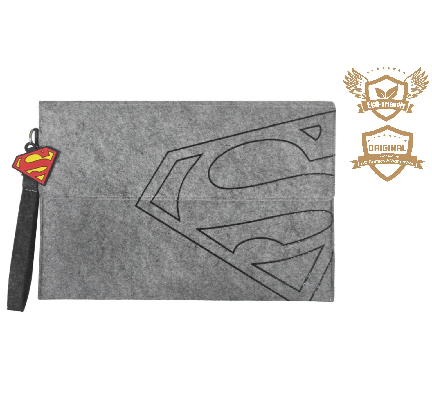 ECO-Super Hero Unisex Felt Document Clutch Bag_Superman